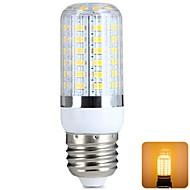 E26/E27 7W 56 SMD 5730 620 LM Warm White T LED Corn Lights AC 220-240 V