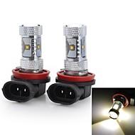 Marsing® High Power H11 30W 2800LM 6*Osram LED 6500K White Light Car Fog / Head Light (12V / 2pcs)