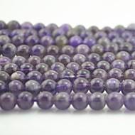 Toonykelly®Cute Round Small Purple Amethyst  DIY Beads 65Pc/Bag