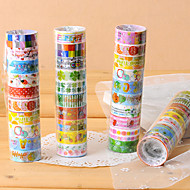Fancy Adhesive Scrapbooking Adhesives Tape 2.2 M(10 PCS Random Color)