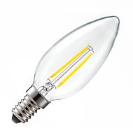 Lampandine a candela 2PCS COB ON C E14 2 W Intensità regolabile/Decorativo 200LM LM 2800-3200 K Bianco caldo AC 220-240 V