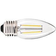 E26/E27 Ampoules à Filament LED C35 COB 200LM lm Blanc Chaud Gradable / Décorative AC 100-240 V