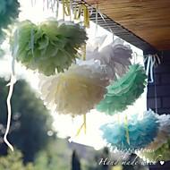 10 pouces fleur de papier décorations de fête - jeu de 4 (plus de couleurs)