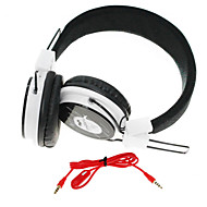 WZS- Ergonomic Hi-Fi Stereo Headphone with Microphone-(Black+White)