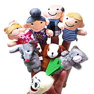 8PCS The Enormous Turnip (Farmers Version) Story Plush Finger Puppets Kids Talk Prop