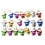 brillant petit père noël poupée décorative mignonne pour noël - 20 pièces multicolores