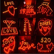 COWAY 5kpl johti punainen kynttilä muotoinen valo osapuoli toimittaa häät koristelu