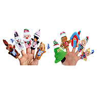 10PCS Christmas Stroy The Nursery Rhyme Finger Puppets Kids Talk Prop