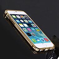 Shengo ™ luksus krystal rhinestone indlagt stil metal kofanger telefon tilfældet for iPhone 6 (assorterede farver)