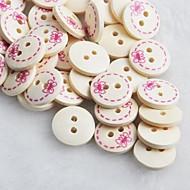bowknot mønster utklippsbok scraft sy DIY tre knapper (10 stk)