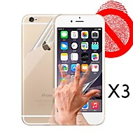 Front and Back Matte Screen Protector for iPhone 6  (3 PCS)