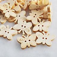 butterfly scrapbook scraft sy DIY tre knapper (10 stk)