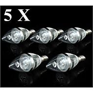 4W E14 LEDキャンドルライト C35 3 SMD 250-300 lm 温白色 / クールホワイト AC 110-130 V