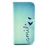Coco fun® söpö sydän kuvio pu nahka tapauksessa näyttö protecter ja stylus Samsung Galaxy S4 mini i9190