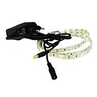 levou jiawen® 1m 4W 60x3528smd 6000-6500k branco branco / quente faixa de luz flexível + alimentação 1a (CA 110-240V)