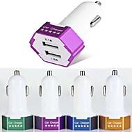 es-04 chargeur de voiture avec 2-Port Hub USB pour iPhone 6 iphone 6 plus et d'autres téléphones portables (5v 1a / 2.1a)