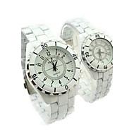Couple's Steel Watch Ceramic Quartz Watch