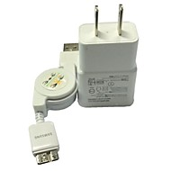US Plug USB AC Wall Charger Adapter and Stretched USB Cable  for Samsung Note3 n9006 n9009 S5