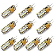 10 pcs G4 1.5 W 24 SMD 3014 144 LM Warm White/Cool White Decorative Bi-pin Lights DC 12 V