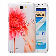 Slender Hand Pattern PC Brushed Case for Samsung Galaxy Note 2 N7100