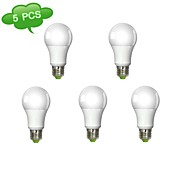 5 pcs E26/E27 14 W 1 COB 1360 LM Cool White A60 Globe Bulbs AC 100-240 V