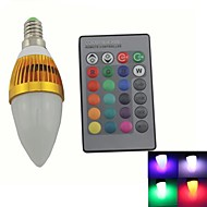 Bombillas Vela Regulable/Control Remoto/Decorativa Zweihnde C E14 3 W 1 LED Integrado 180-200 LM K RGB AC 85-265 V