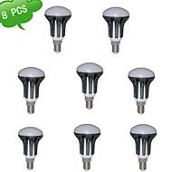 8szt duxlite® R50 E14 8W (75W) = incan CRI>80 720lm 15x3022smd 3000k ciepłe białe LED spot light (ac 85-265v)