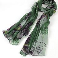 vrouwen chinese inkt schilderij stijl katoenen sjaals