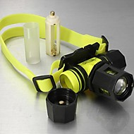 LT-924105  3Mode  CREE XM-L T6   100m Diving Zoomable Headlamp (1800LM.1X18650.Yellow)