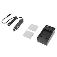 3.7v 1200mAh FNP-40 kamera batteri för pentax dl-i8 / dli8 / d-L18 / DL18 / np-40 / fnp40 med laddare (2 batterier + 1 laddare)