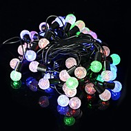 5W 50-LED RGB Beads Christmas Decoration Light String - Transparent + Black (6.9M / 220V / EU Plug)