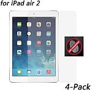 Protetor de tela resistente anti-impressão digital [4-pack] hd para ipad ar 2