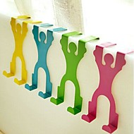Stainless Steel Cartoon Back Door Type Multi-function Hook(Random Color)