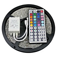 Waterproof 5M 150X5050 SMD RGB LED Strip Light with 44Key Remote Controller (DC12V)