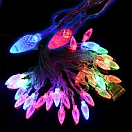 5W 28-ledede 3-tilstand RGB farverige jul fyrrekoglen model lys streng (220v / 2-rund-bens stik)