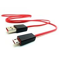 0.9m 3ft micro usb fast oplaadsnoer voor sony htc samsung s3 / s4 / s5 verslaat pil rood