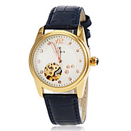 Women's Automatic Self Wind Hollow Engraving Gold Case Leather Band Wrist Watch(Assorted Colors) Cool Watches Unique Watches