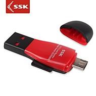ssk® scrs600 micro usb 2,0 microSDHC OTG kortinlukija kaikille USB-laitteiden kanssa OTG toiminto