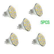 5 pcs JUXIANG GU4(MR11) 3 W 12 SMD 5050 300 LM Cool White MR11 Decorative Spot Lights DC 12 V