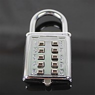 CR-602 Fashion Stainless Steel Number Code Lock - Silver