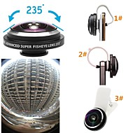 Universal Detachable Super 235 Degree Fisheye Lens Clip Fish Eye Lens for iPhone/iPad and Others