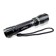 Delipow DLP-818 Waterproof Rechargeable 5-Mode 1×Cree Q5 LED Flashlight Kits(225LM,1×18650,Black)