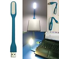 Blue Portable USB LED Light Bendable Mini Lamp