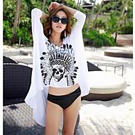 női divat szexi fehér pamut koponya fürdőruha fürdőruha bikini sun beach fedezi fel