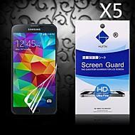 HD screen protector met stof-absorber voor Samsung Galaxy S5 i9600 (5 stuks)