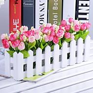 Tak Polyester Kunststof Tulpen Bloemen voor op tafel Kunstbloemen