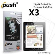 grande transparence protecteur d'écran LCD HD pour iPad 2/3/4 (3 pièces)