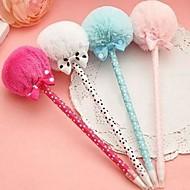 originalité bowknot stylos à bille en peluche (couleurs aléatoires)