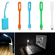 usb ledde bärbar dator notebook ljus lampa plast flexibla låg effekt ljus (blandade färger)
