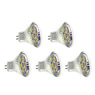 5 pcs GU4(MR11) 4 W 9 SMD 5730 400-430 LM Warm White Spot Lights AC 12 V